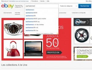 Recherche Warhammer ebay